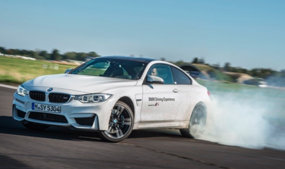 Figure 1. Oversteering a BMW M4 on a test track.