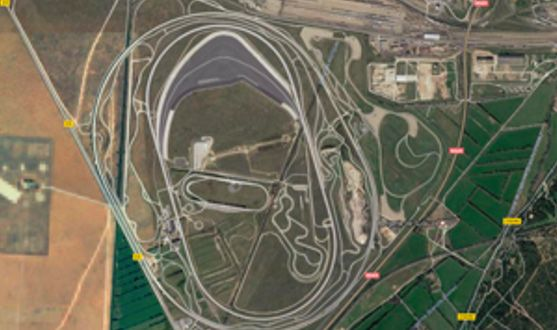 Figure 2. The BMW proving grounds in Miramas, France.