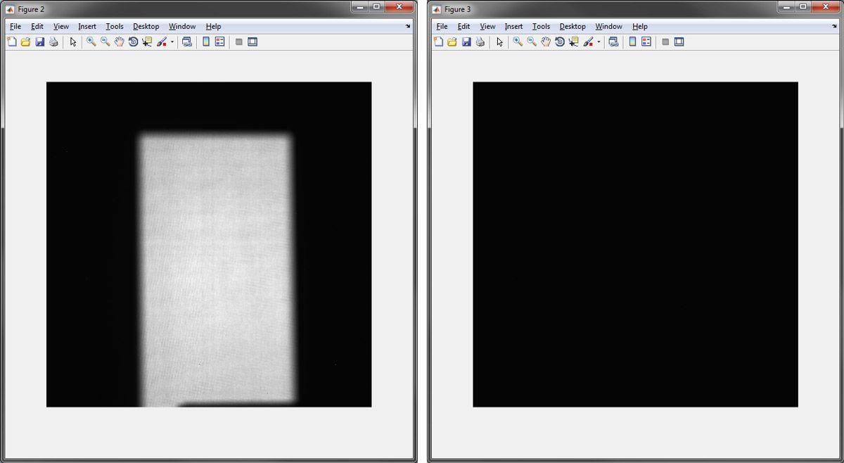 Figure 3: OpenBeamData image and DarkFieldData image.