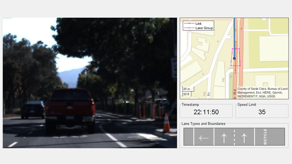 Visualize lane topologies using HERE HD Live Map.