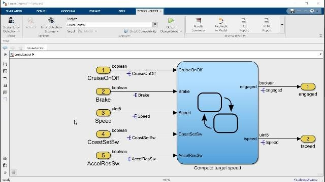 In this video, you'll see how to use Simulink Design Verifier to detect design errors early in the development process—and how errors, when detected, can be debugged using the visualization features in Simulink Design Verifier.