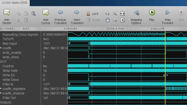Stream heterogeneous Simulink signals to the Logic Analyzer to perform advanced analysis and debugging.