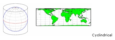 Map Projection – Cylindrical