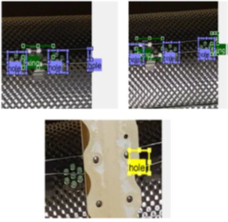 Detecting multiple defects in elements of the aircraft with automated visual inspection.