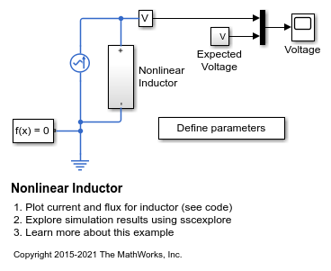 Nonlinear Inductor - MATLAB & Simulink