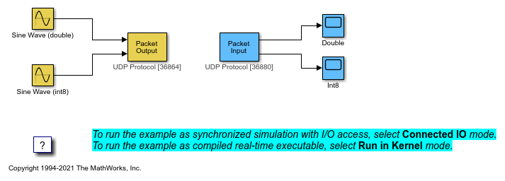 Packet Input/Output - MATLAB & Simulink