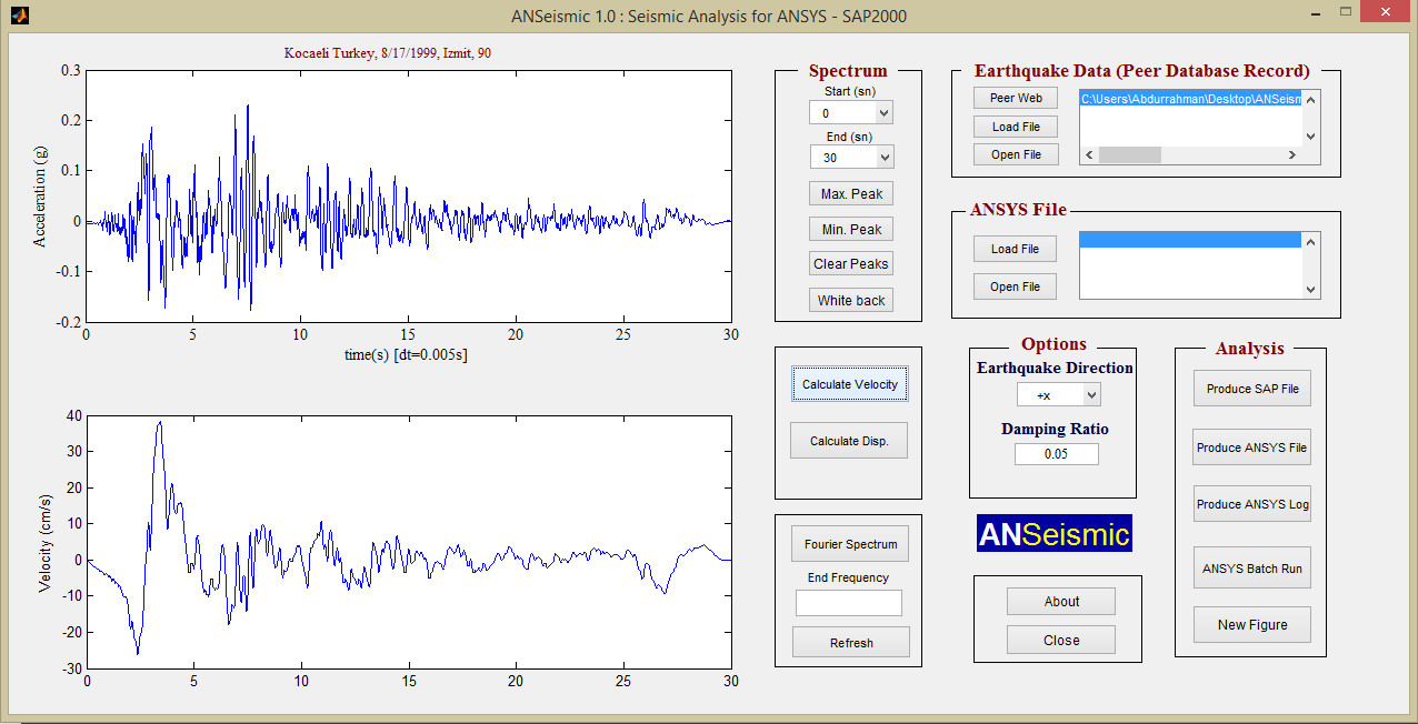 ANSeismic – Seismic Analysis of Structures with ANSYS and