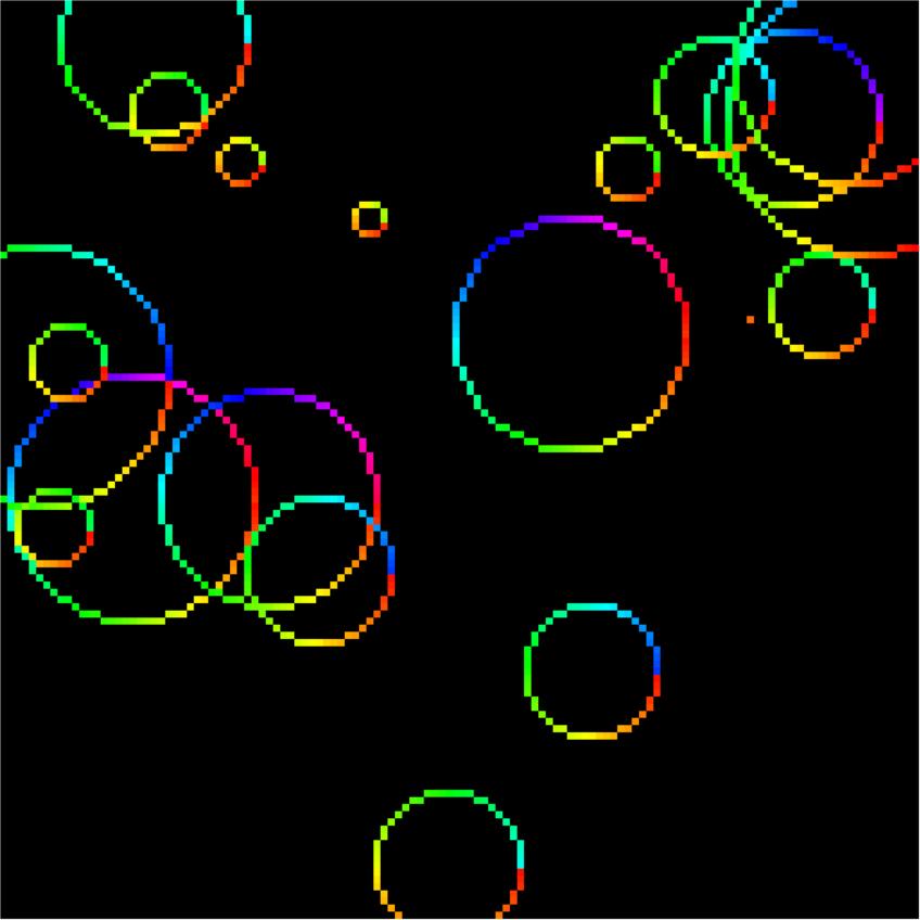Circle Pixel Coordinates Using Mid-point Algorithm