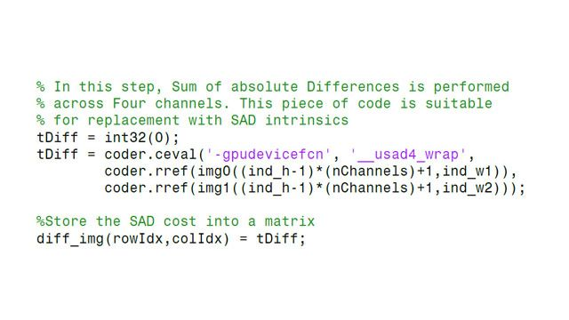 Incorporating existing CUDA code into generated code.