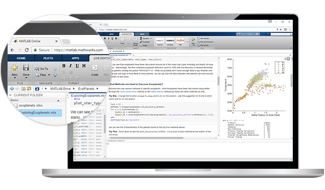 Access MATLAB from Your Web Browser