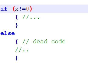 Simple example of dead code