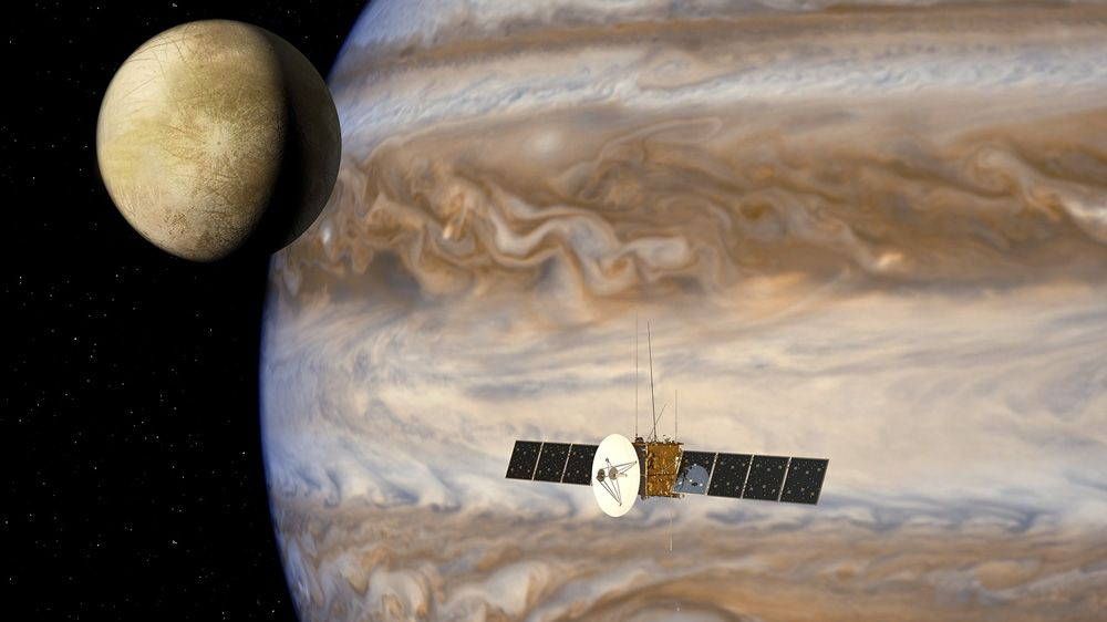 Airbus Defence and Space Simulates Jupiter Icy Moons Explorer Mission Data Flows.
