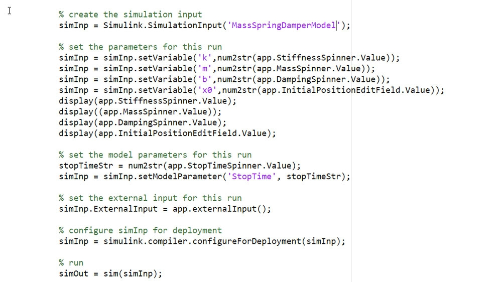 Use SimulationInput Object to define the simulation inputs and parameters.