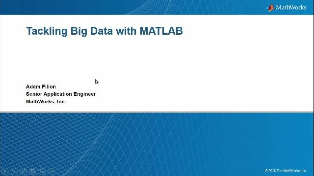 You will learn strategies and techniques for handling large amounts of data in MATLAB.  New big data capabilities in MATLAB R2016b will be highlighted, including tall arrays.