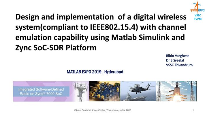 Design and Implementation of a Digital Wireless System on a Zynq SDR Platform using MATLAB and Simulink