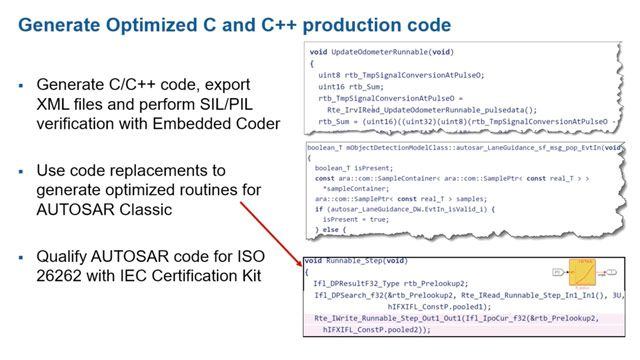 Learn how to design, simulate, and generate code for AUTOSAR Adaptive and Classic applications.