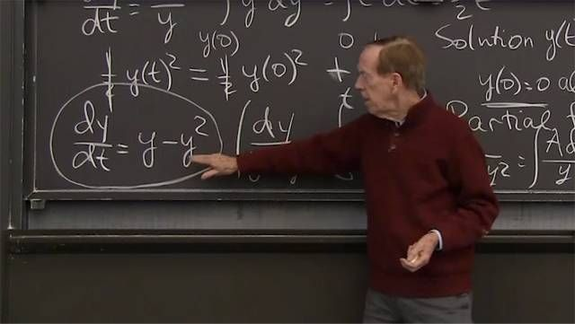 Separable equations can be solved by two separate integrations, one in <em>t</em> and the other in <em>y</em>. The simplest is <em>dy/dt = y</em>, when <em>dy/y</em> equals <em>dt</em>. Then ln(<em>y</em>) = <em>t + C</em>.