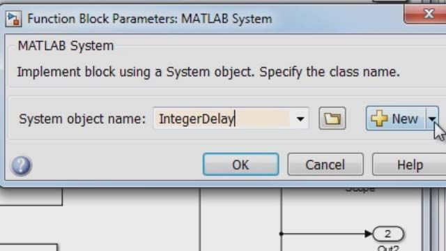 Use the MATLAB System block to include MATLAB System objects within your Simulink model.