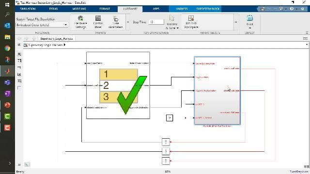 Learn how to use Stateflow to design supervisory logic state machines that manage your converter desired operating mode.