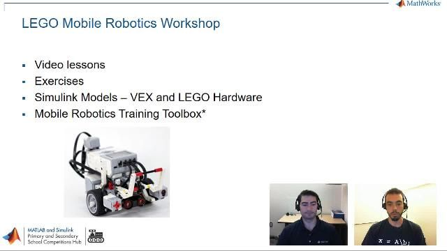 Learn how to program LEGO robots using Simulink to complete tasks such as dead reckoning, line following, obstacle avoidance, and path navigation.