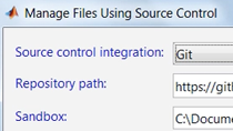 Integrate MATLAB with Git and Subversion source control systems through the Current Folder browser.