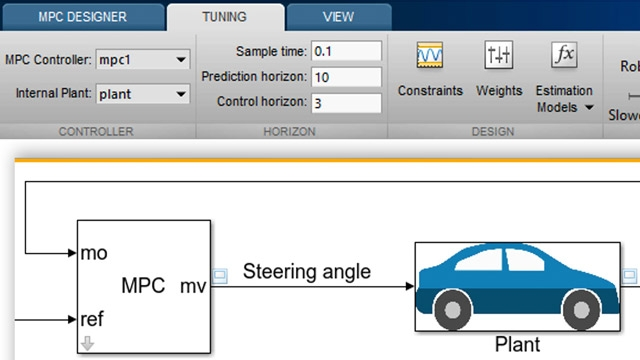 Learn how to design an MPC controller for an autonomous vehicle steering system using Model Predictive Control Toolbox.