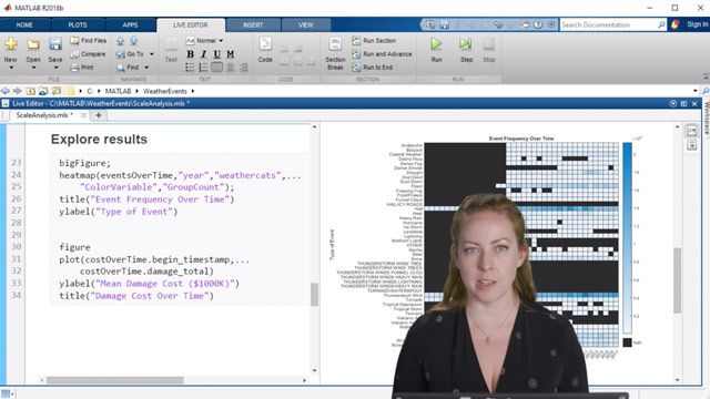 Learn how tall arrays in MATLAB make it easy to work with large amounts of data – whether it is stored locally or in the cloud.